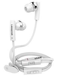 LANGSTON JV04 Volume moda Controle In-Ear Earphone Microfone Para Todos os Smartphones (cores sortidas)