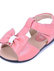 Chicas Cuero planos del talón de la T-correa Comfort Sandalias Zapatos con Bowknot Zapatos (más colores)