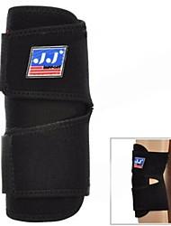 Preto Protecção de borracha flexível Nylon Esporte Elbow Pad (759)