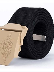 Moda Masculina Lazer Automatic Buckle Belt Canvas