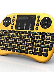 Новый Обновление Rii Мини i8 + Беспроводная мини-клавиатура Multi-Touch противоскользящие Обработка Встроенная литиевая батарея