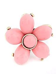 Bastante Flower Design Liga com gasolina gotejamento Ring (mais cores)