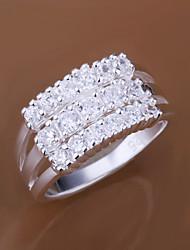 Minze 925 Silber dreireihige Ring
