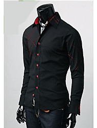 Casual Color Matching shirt Sameul hommes