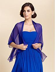 Scialli / Wraps Wedding Scialle Chiffon Giallo / Blu / Bianco / Fucsia / Arancione / Rosa / Rosso rubino Per l'ufficio / Casual