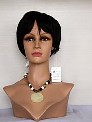 14061314 Feminino Virgin cabelo humano machinemade Oriente Parte peruca curta