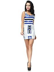 Femme O cou Star Wars Artoo Imprimé Mini robe de gilet de réservoir
