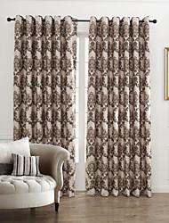 (Dois painéis) país de fantasia floral cortina energia jacquard arabesco