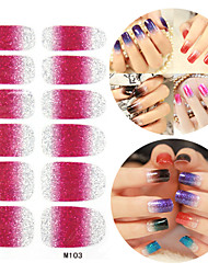 28pcs gradient de paillettes rampe Nail Art Stickers m série n ° 103