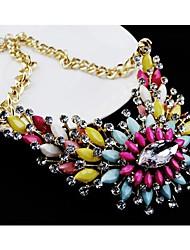 Frauen Neue teure Edelstein-Blumen-Halskette