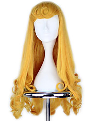 Cosplay Wigs Cosplay Cosplay Golden Medium Anime Cosplay Wigs 70 CM Heat Resistant Fiber Female