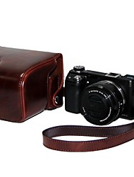"""Ever Ready"" Protective Brown Leather Camera Case Bag Cover for sony nex6Digital Camera"