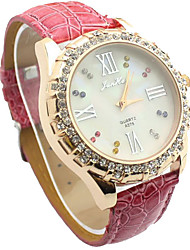 Junhao Colorful Diamond Fashion Belt Watch 68806