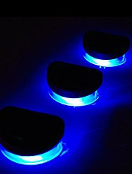 6x 2LED Blue Solar-Leuchten Wand-Geländer Treppen Walkway Outdoor-Deck Lampe