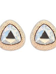 Européenne et l'Amérique Mode Triange alliage Perlé élégante Boucles d'oreilles des femmes (couleurs or blanc) (1 paire)