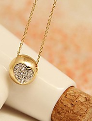 Pretty Jewelry  Short  Gold Plated Semicircle Love Set Auger Clavicle Necklace for Women