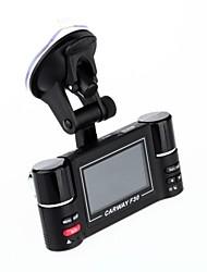 "2.7 ""16:9 TFT LCD Dual Lens Night Vision IR Driving Recorder DVR carro F30"