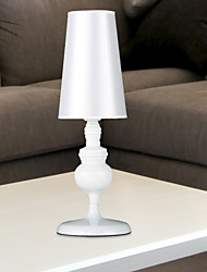 Comtemporary Artistic Table Lamp With Metal White Painted Body Shade