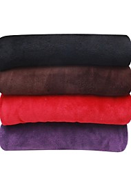 "Elegant Solid Micro Plush 50""x60"" Throw, Cozy, Soft And Stay Warm (127cmx152cm)"