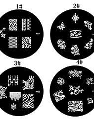 1PCS Nail Art Stamp Estamparia Imagem Modelo Placa M Series NO.4 (cores sortidas)