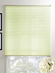 Elegant Green Solid Eco-friendly Pleated Shade