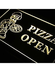 s127 Pizza OPEN Shop Cafe Store Neon Light Sign