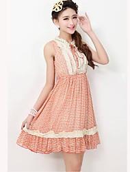 TS Vintage Perlen Swing-Kleid mit Rüschen