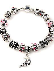 lureme®925 tibétaine bracelet en argent charme de poissons de verre de murano de Chamilia
