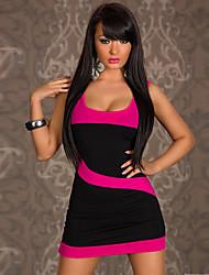 bolilai женщин сексуальное платье Bodycon контрастного цвета