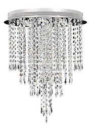 Flush Mount ,  Modern/Contemporary Chrome Feature for Crystal LED CrystalLiving Room Bedroom Dining Room Kitchen Study Room/Office Kids