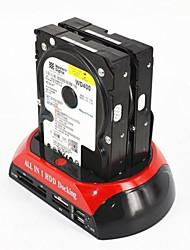 """doppio dock 2.5 """"3.5"""" SATA HDD IDE USB OTG esata disco rigido attracco"""