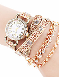 CCQ PU Leather Women Dress Watch with Rhinestone-10