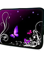 "Purple Butterfly Pattern Laptop Sleeve Case for 11.6"" MacBook Air"