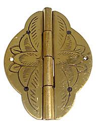 50 milímetros × 36 milímetros Retro Impressão Bronze chinês Latão Para Jóias Caixa Dobradiça