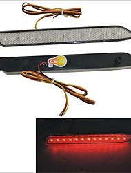 Secours d'arrêt de feu de freinage rouge Carking ™ voitures Objectif pare-chocs arrière du réflecteur 13 LED pour Reiz - 2PCS