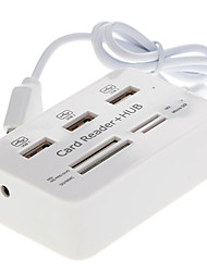 3-Port Hub + Card Reader 2.0 High Speed ​​USB