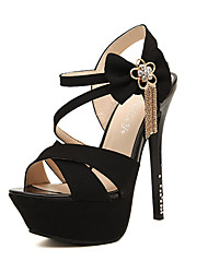 Youth Women's Sexy Bow Stiletto Heel Sandals