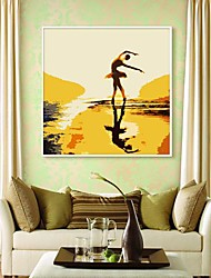 Beautiful Dancing Framed Canvas Print