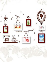 Photo Frame Collection Set of 6 with Wall Sticker 01