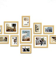 Wooden Photo Wall Frame Collection Set of 11