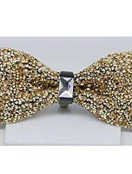 Moda Donna d'oro di cristallo del diamante festa nuziale Bowtie Charme Papillon