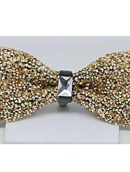Damesmode Golden Crystal Diamond Wedding Party Bowtie Charmant Vlinderdas