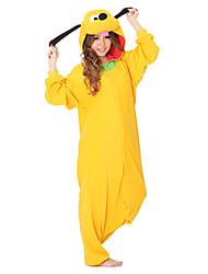 Kigurumi Pyjamas Dog Gymnastikanzug/Einteiler Fest/Feiertage Tiernachtwäsche Halloween Gelb einfarbig Polar-Fleece Kigurumi Für Unisex
