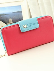 Women's Girls Fashion Sweet Nubuck Leather Bag Gifts Wallets Card Coin Purses Clutch Bag