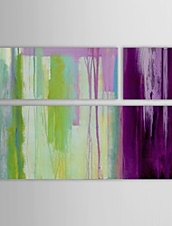 Hand Painted Oil Painting Abstract Spring Streamlet with Stretched Frame Set of 3