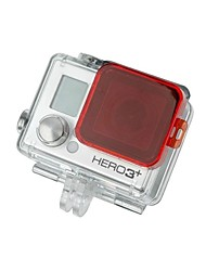 TELESIN Professional Diving Housing Red Filter for GoPro Hero3+ (for Blue Water)