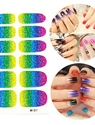 28PCS Glitter Gradient Ramp Nail Art Stickers M Series NO.107