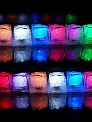 12st Color Changing Ice Cubes LED light Christmas Party Wedding Bar Restaurant