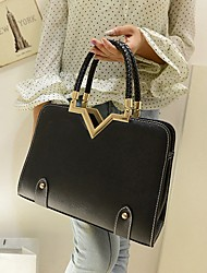 Gemuni stylisme de mode Braid Messenger Bag (Black)