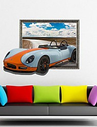 Tatuajes 3D The Sports Car Wall pegatinas de pared
